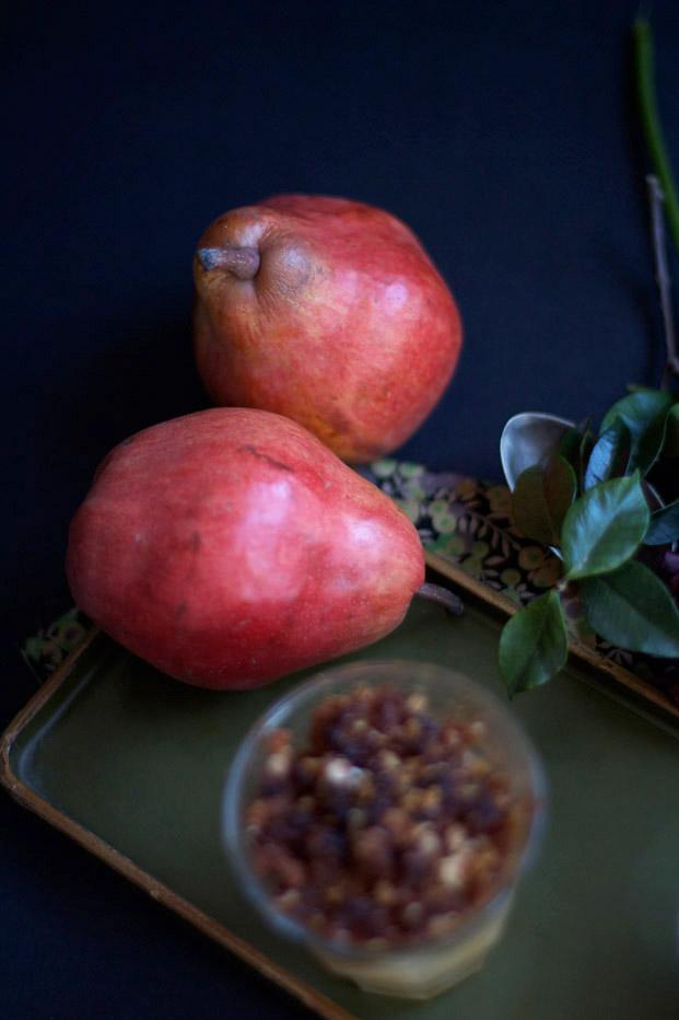 Crumble poires et pain d'épice recette - Besly -
