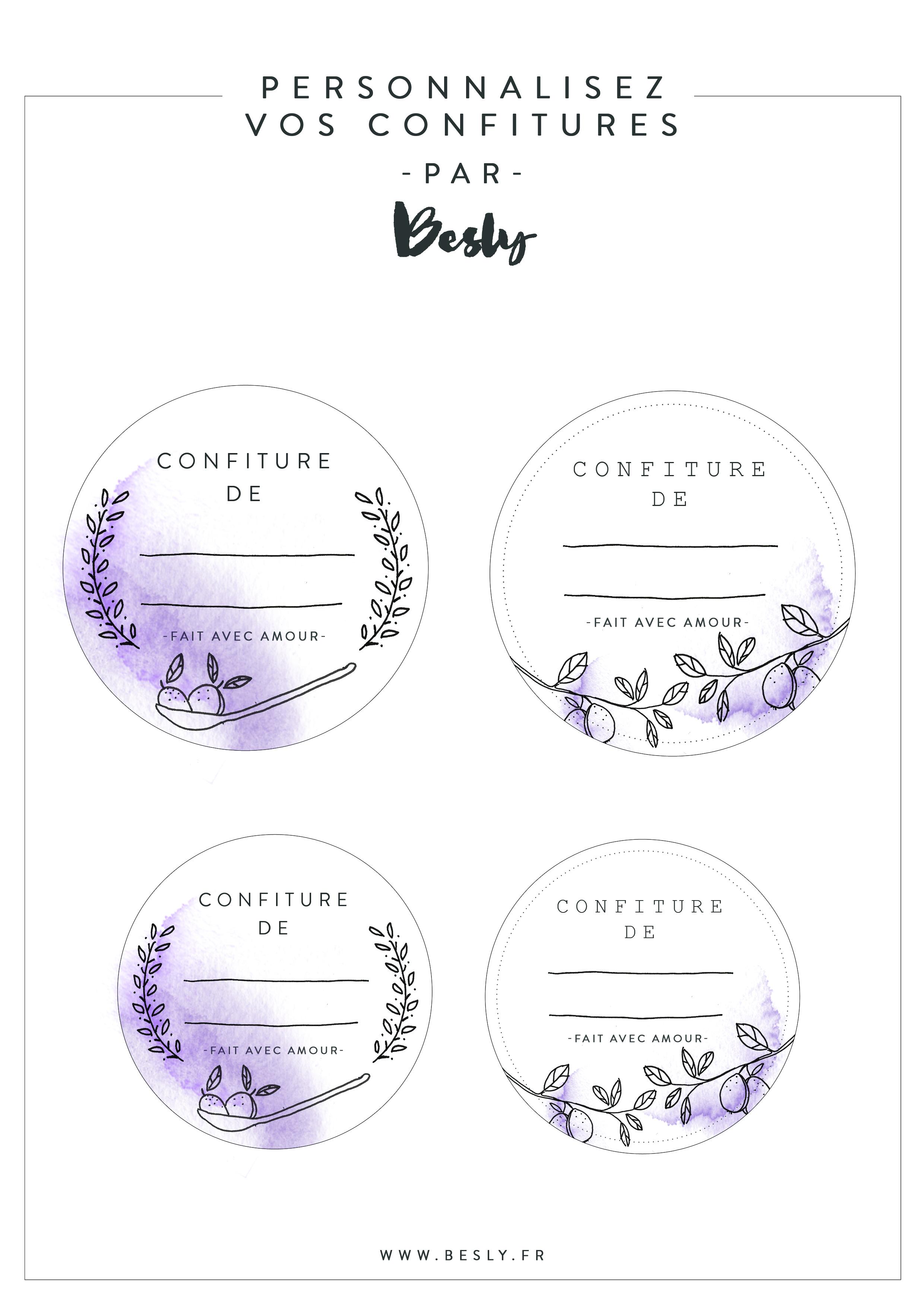 Préférence Des étiquettes à imprimer pour vos confitures ! - Besly : Blog  BL66