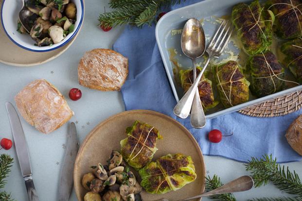 Menu de Noël : choux farcis au canard confit - Besly -