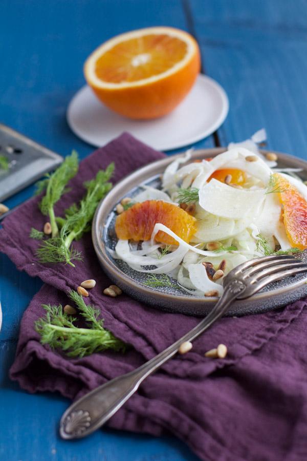 Recette salade de fenouil orange parmesan - Besly -