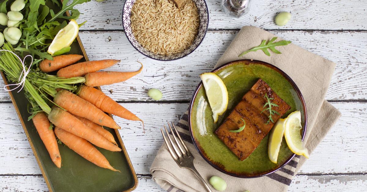 tofu mariné recette et stylisme culinaire Besly
