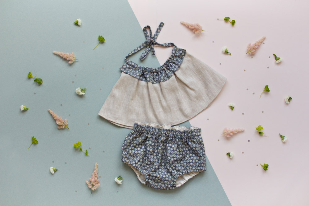 Ensemble haut et bloomer Little Lou - 60€
