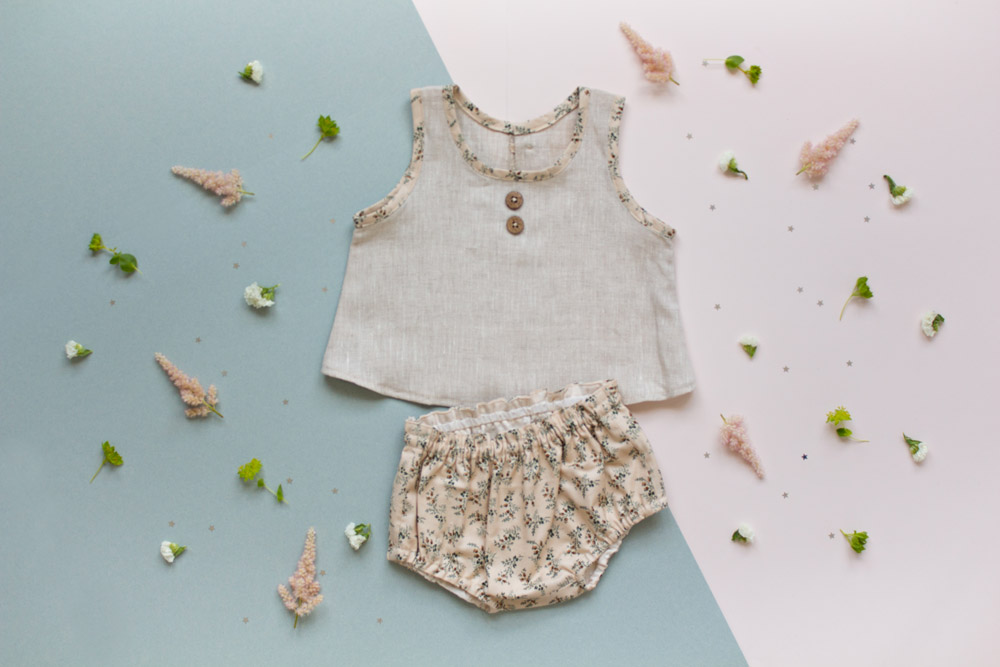 Ensemble haut et bloomer Little Lou - 58€