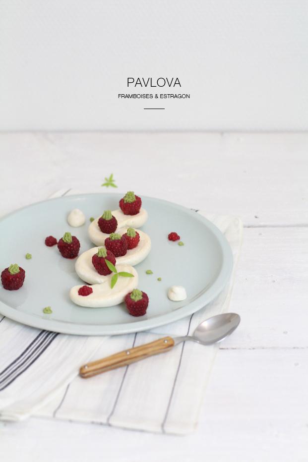 Pavlova framboise et estragon recette Besly
