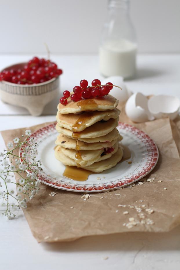 Recette Besly Pancakes groseilles et flocons d'avoines