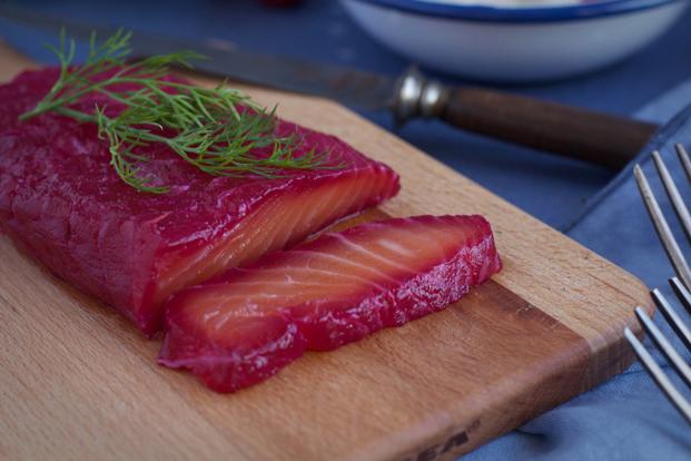 Menu de Noël : entrée saumon gravelax