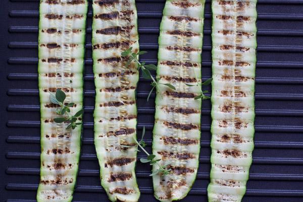 Recette salade de courgettes grillées avec Le Creuset par Besly