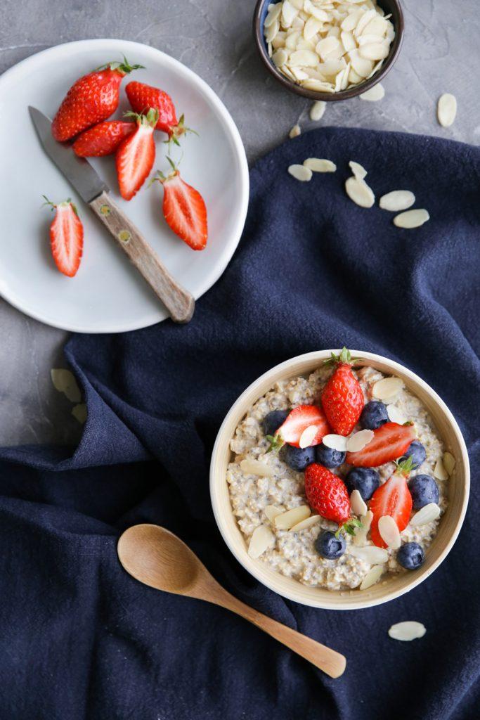Recette de porridge over night par Besly