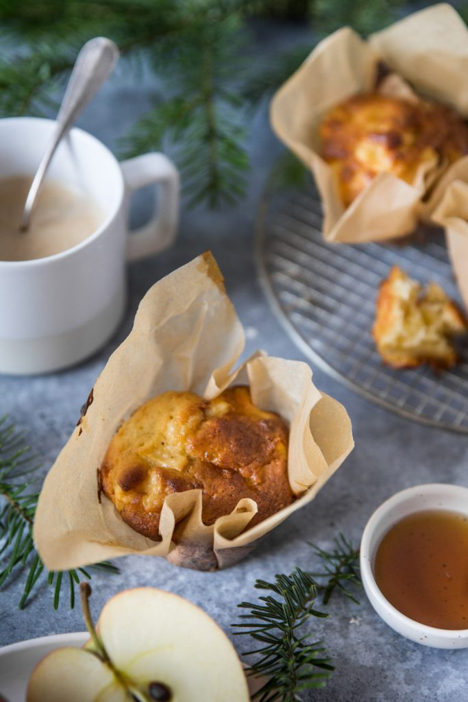 Muffins pomme cheddar bacon Besly Stylisme et photographie culinaire