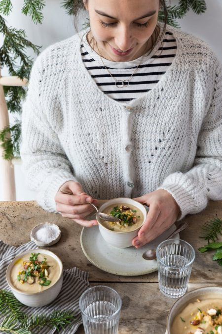 Velouté panais châtaignes Besly Stylisme et photographie culinaire