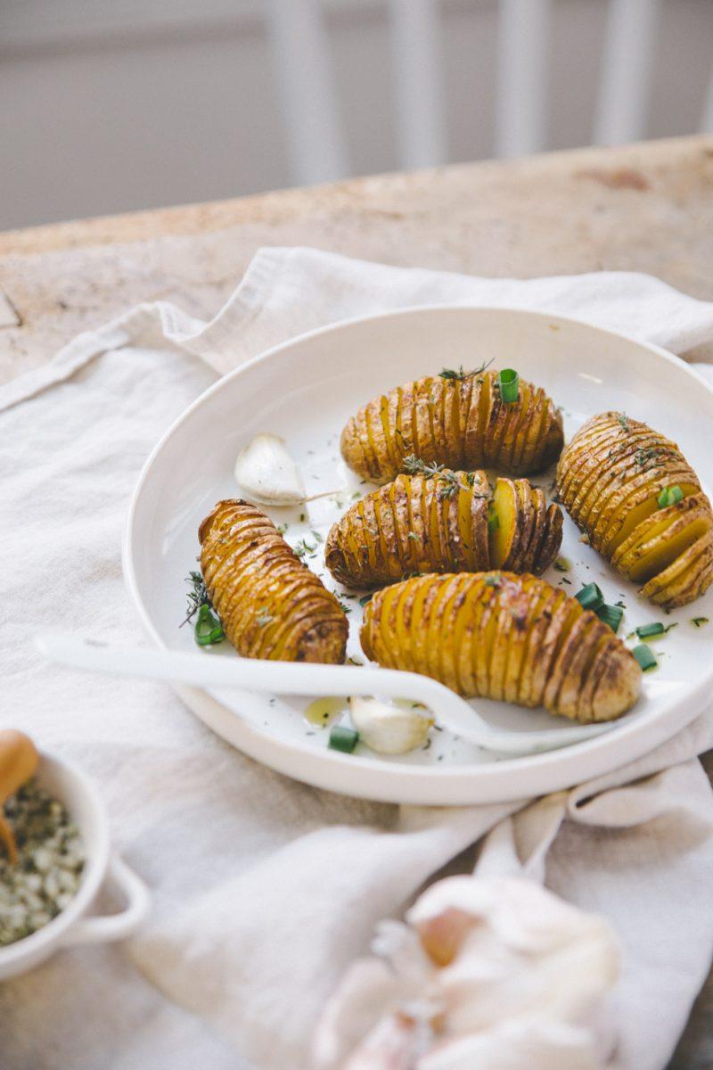 pommes de terre hasselback Styliste culinaire Lyon Besly