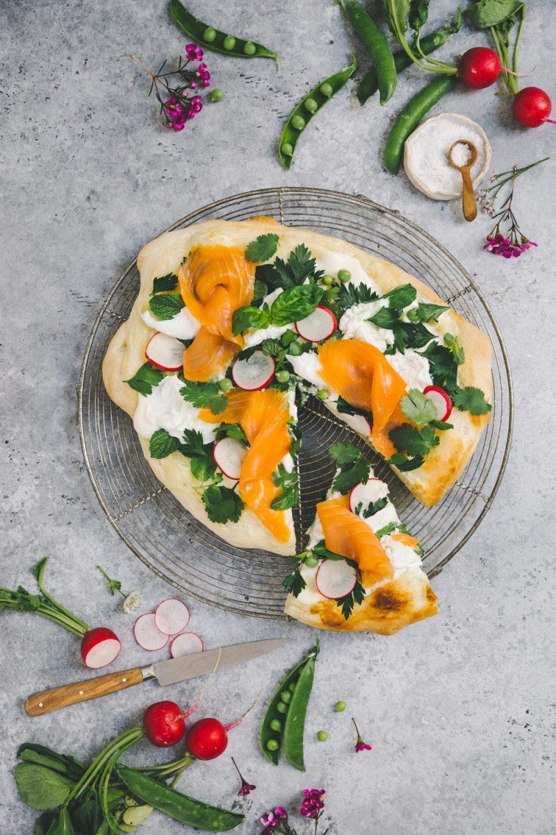 Focaccia printanière Styliste culinaire Lyon Besly