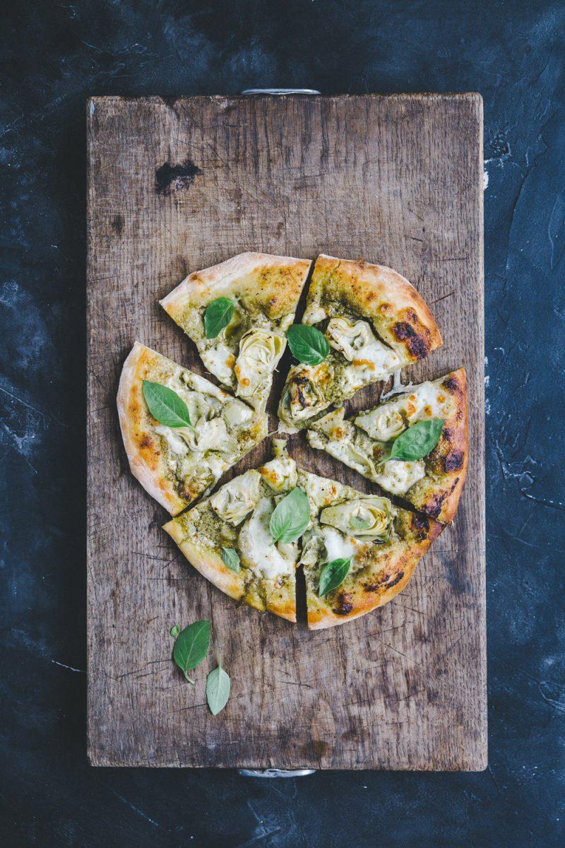 Recette pizza aux artichauts Styliste culinaire Lyon Besly