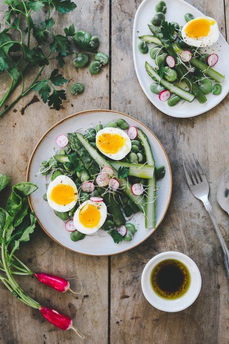 Salade d'asperges et fèves aux saveurs asiatiques Styliste culinaire Lyon Besly