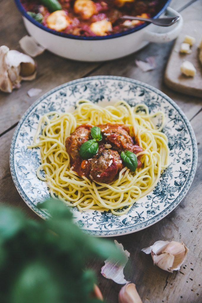 Recette boulettes viandes à l'italienne Styliste culinaire Lyon Besly