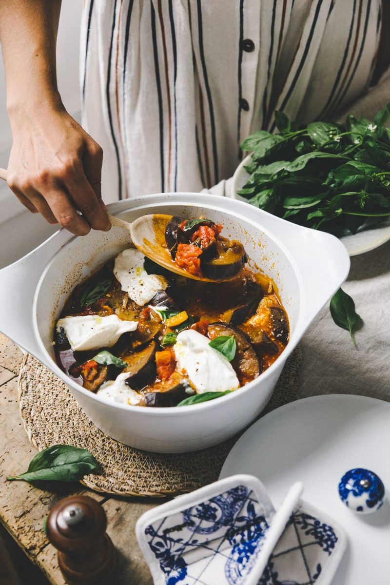 Recette ratatouille Stylisme et photographie culinaire Besly