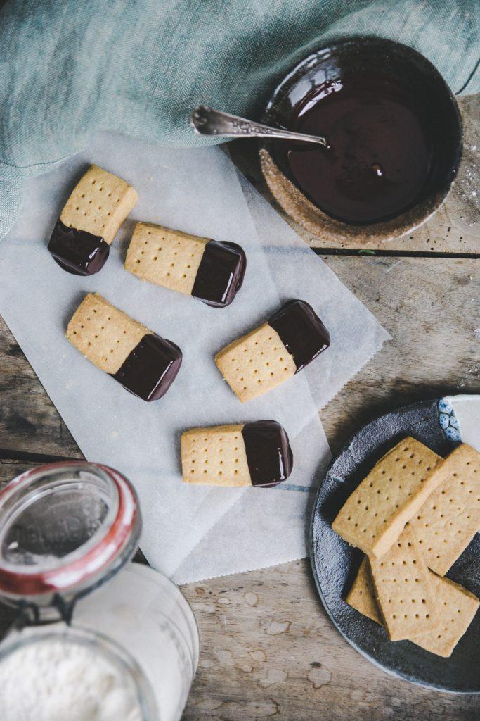 Recette shortbread chocolat noir Styliste culinaire Lyon Besly