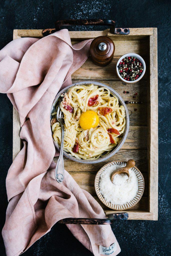 Recette Pâtes Carbonara Styliste culinaire Lyon Besly