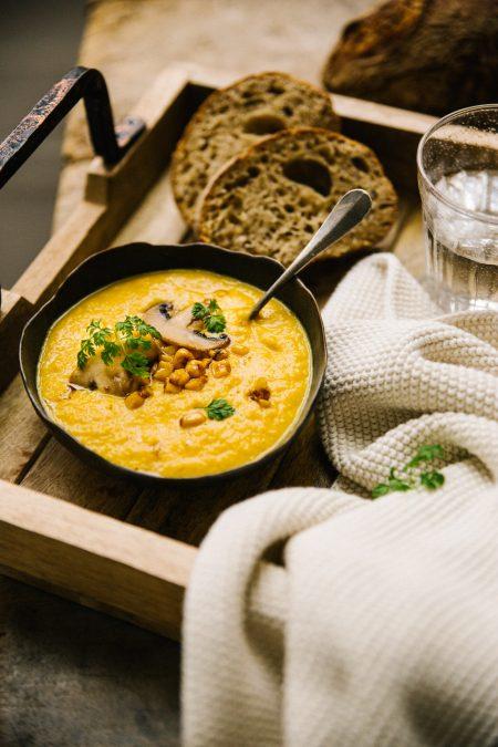 Recette de soupe au maïs grillés Styliste culinaire Lyon Besly
