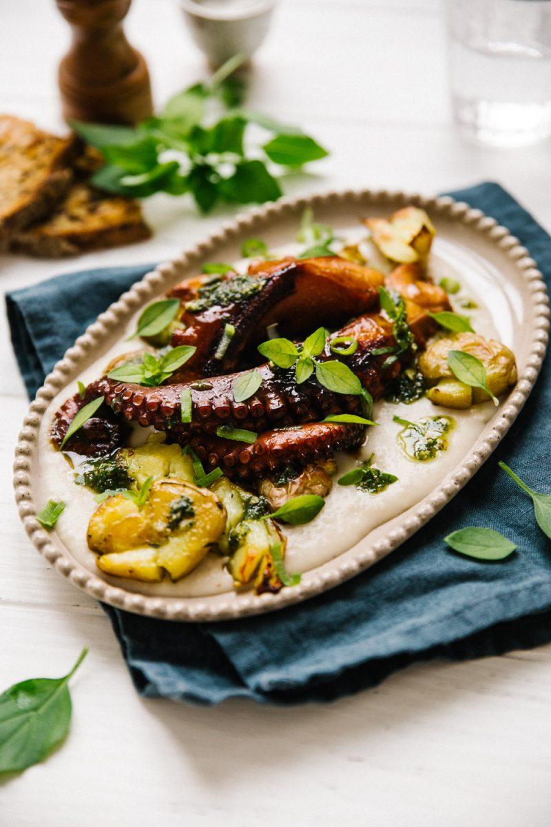 Poulpe grillé Photographe culinaire Lyon Besly